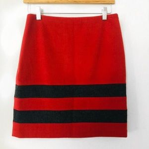 J. Mclaughlin | Red and Gray Pencil Skirt